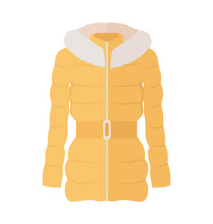 Woman down jacket flat style vector