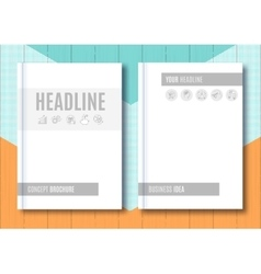 Brochure mock-up blank magazine cover template vector