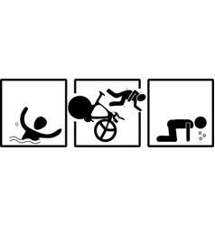 triatlon swim bike run vector image