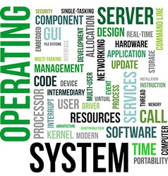 Word cloud operating system vector