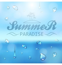 Summer typography background vector
