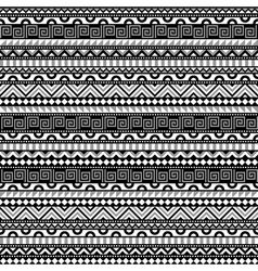 Abstract contrats ethnic pattern vector