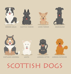 Set of scottish dogs vector
