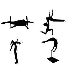 Aerialists vector