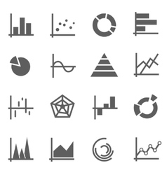 Set of chart icons vector