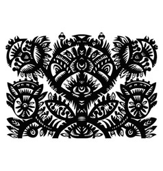 Decorative floral pattern vector