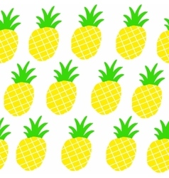 Seamless patten with sweet yellow pineapples vector