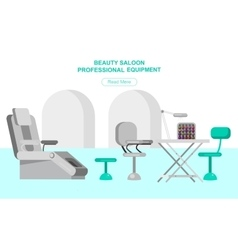 Template for beauty saloon vector