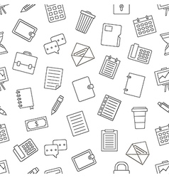 Office work pattern black icons vector
