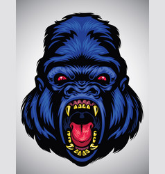 Angry gorilla head vector