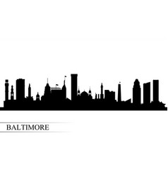 baltimore city skyline silhouette background vector image