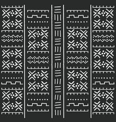 black and white tribal ethnic pattern vector image