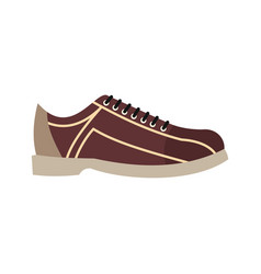 Bowling shoes in flat style vector