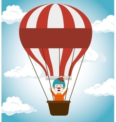 Clown airballoons festival funfair icon vector