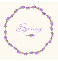 Crocus wreath 3 vector
