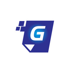 digital paper initial g vector image vector image