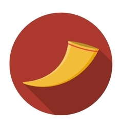 Drinking horn icon flat vector image