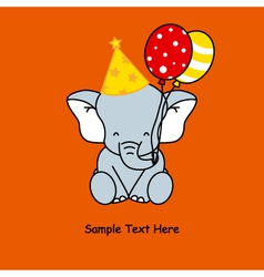 Elephant birthday vector image