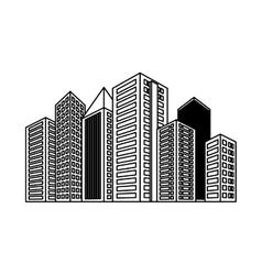 Figure buildings and city scene icon image vector