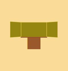 Flat icon on stylish background education vector