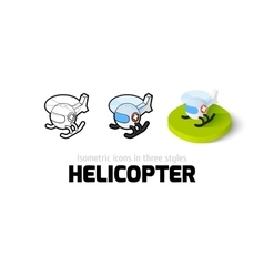 Helicopter icon in different style vector