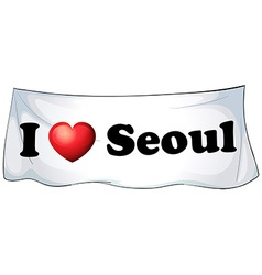 I love Seoul vector image