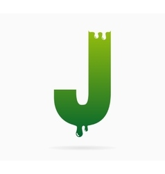 Letter J logo or symbol icon vector image