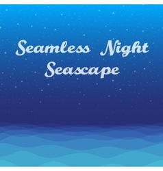 Night sea seamless background vector