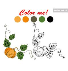 pumpkin coloring book vector image vector image