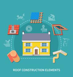 roofer flat composition vector image