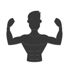 strong man icon vector image