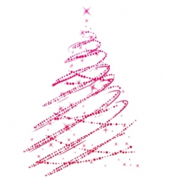 stylized Christmas tree isolated vector image vector image