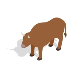 Switzerland cow icon isometric 3d style vector