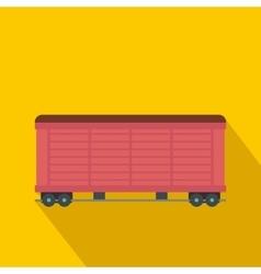 Train cargo wagon flat vector image