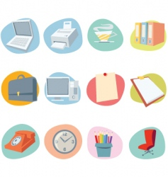 universal icons retro revival collection vector image vector image