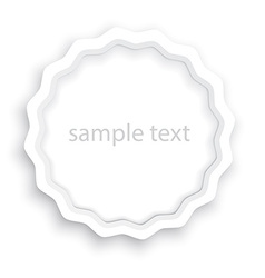 volume paper blank label with a shadow that can be vector image vector image