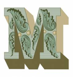 western letter m vector image vector image