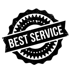 Best service stamp vector image