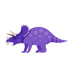 prehistoric animal - triceratops vector image