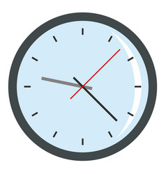 Round analog clock face icon isolated vector