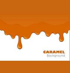 Caramel background or banner vector