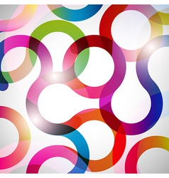 Rainbow Curls background vector image