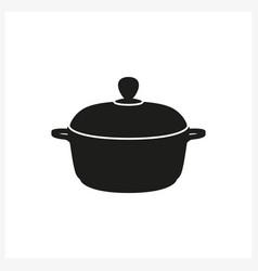 Pot icon in simple monochrome style icon vector