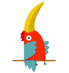 Toucan bird with big beak sitting vector