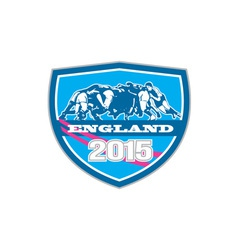 Rugby Scrum England 2015 Shield vector image