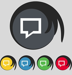 Speech bubble think cloud icon sign symbol on five vector