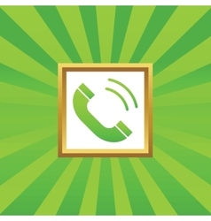 Calling picture icon vector