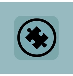 Pale blue puzzle sign vector