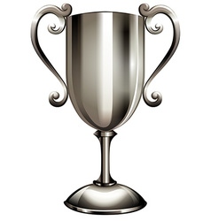 Silver second place trophy vector