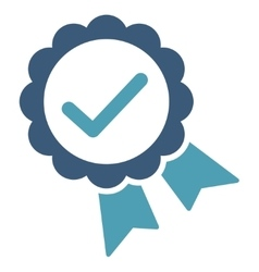 Approved icon from competition  success bicolor vector